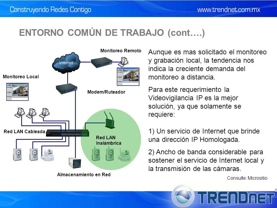 ENTORNO COMÚN DE TRABAJO (cont….)