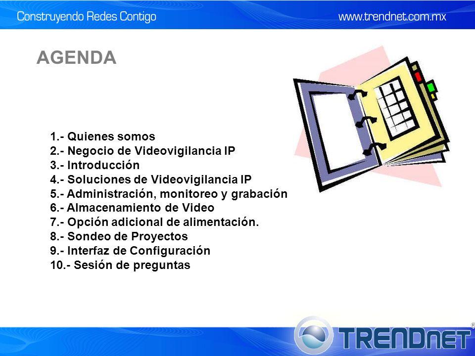 AGENDA 1.- Quienes somos 2.- Negocio de Videovigilancia IP