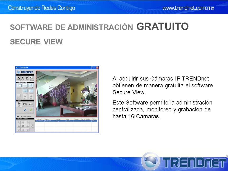 SOFTWARE DE ADMINISTRACIÓN GRATUITO SECURE VIEW