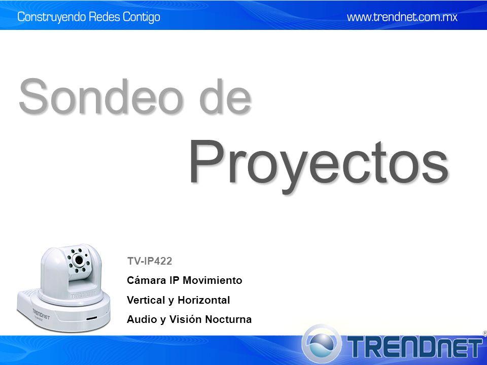 Proyectos Sondeo de TV-IP422 Cámara IP Movimiento