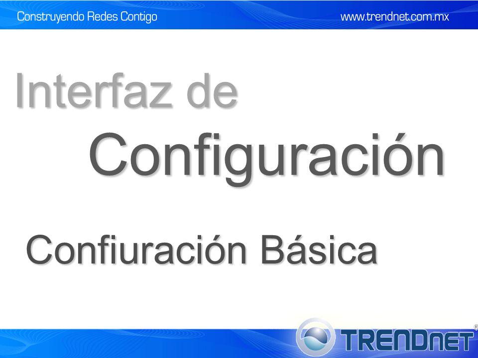 Interfaz de Configuración Confiuración Básica 51