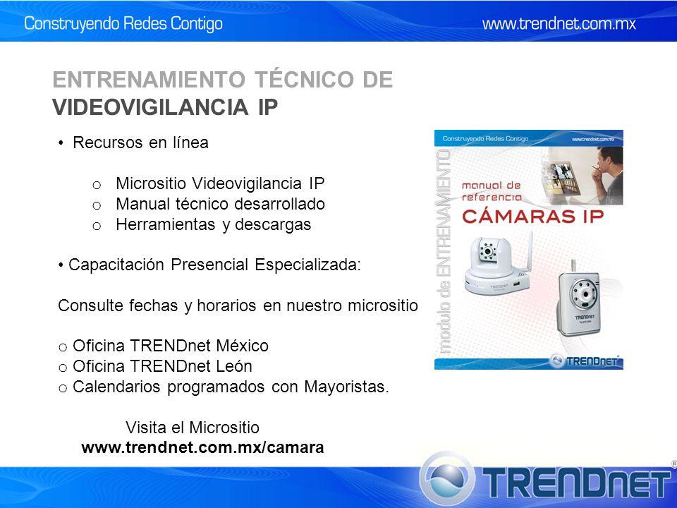 ENTRENAMIENTO TÉCNICO DE VIDEOVIGILANCIA IP