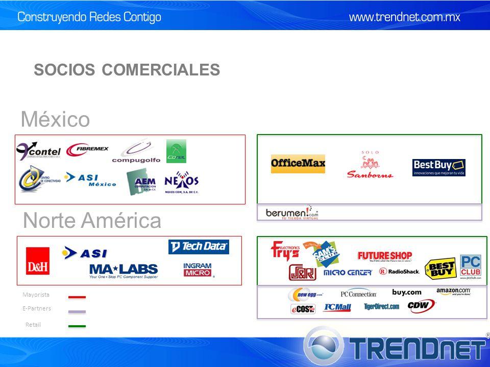 SOCIOS COMERCIALES México Norte América Mayorista E-Partners Retail