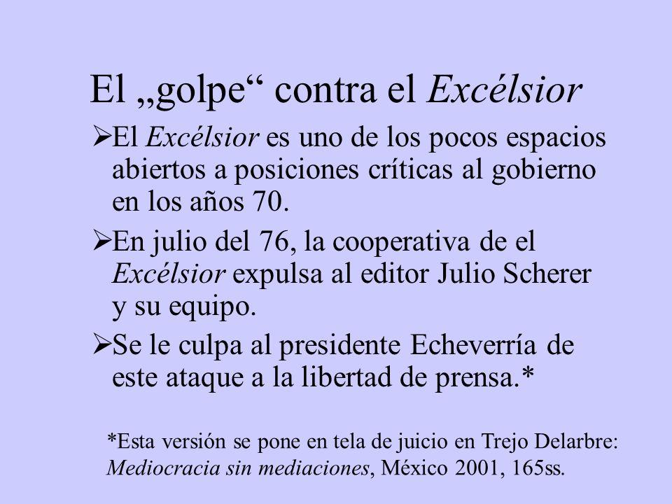 """El """"golpe contra el Excélsior"""
