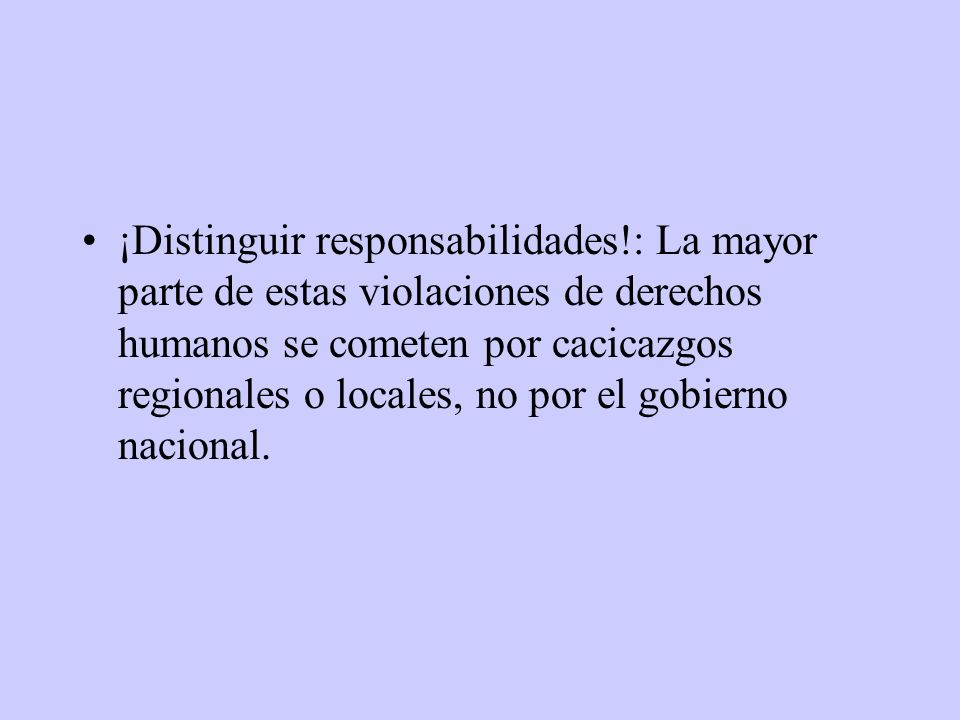 ¡Distinguir responsabilidades