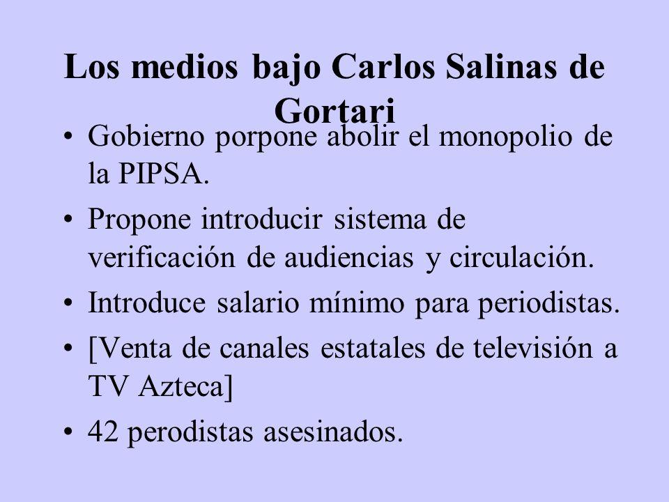 Los medios bajo Carlos Salinas de Gortari