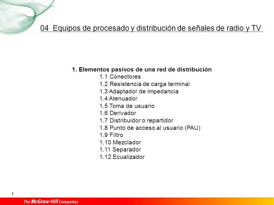 04 1. Elementos pasivos de una red de distribución Conectores