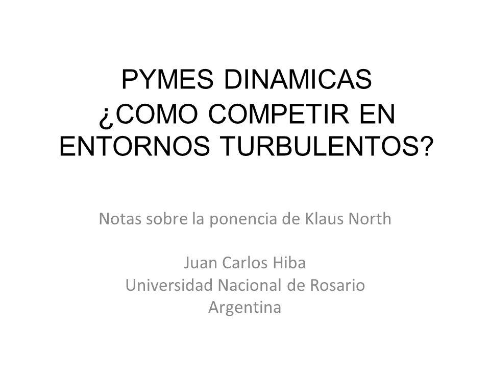 PYMES DINAMICAS ¿COMO COMPETIR EN ENTORNOS TURBULENTOS