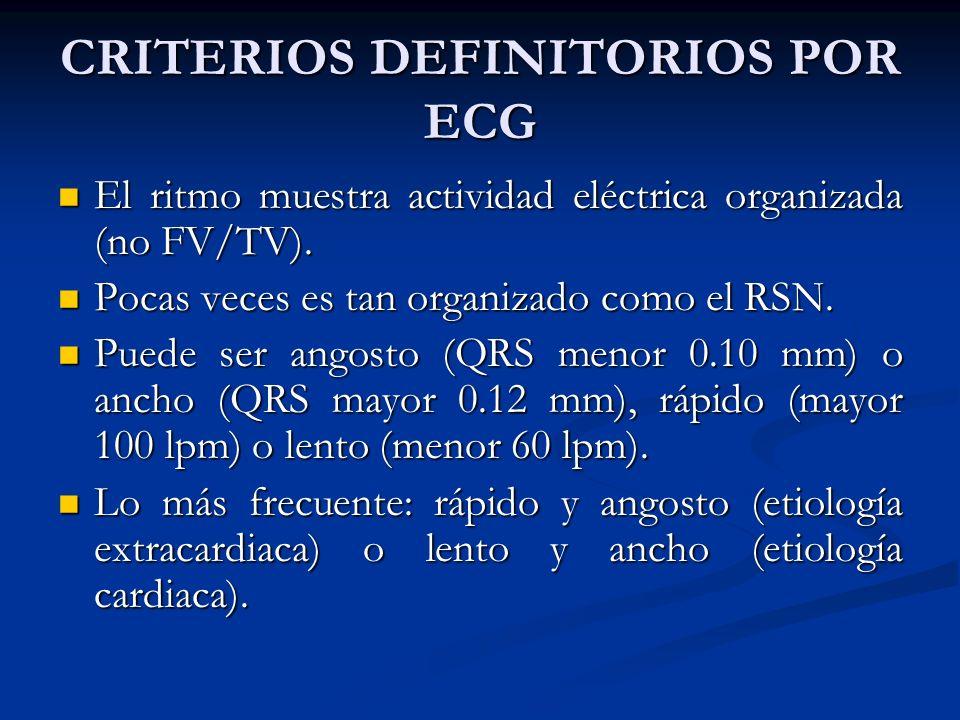 CRITERIOS DEFINITORIOS POR ECG