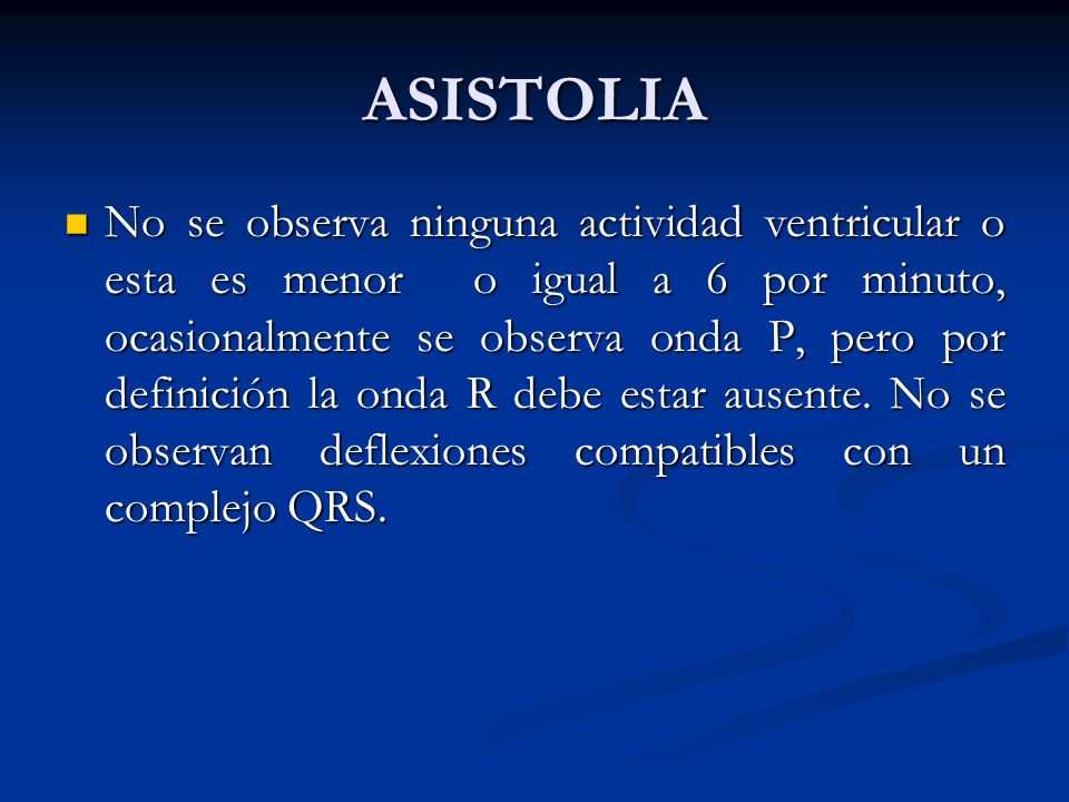 ASISTOLIA