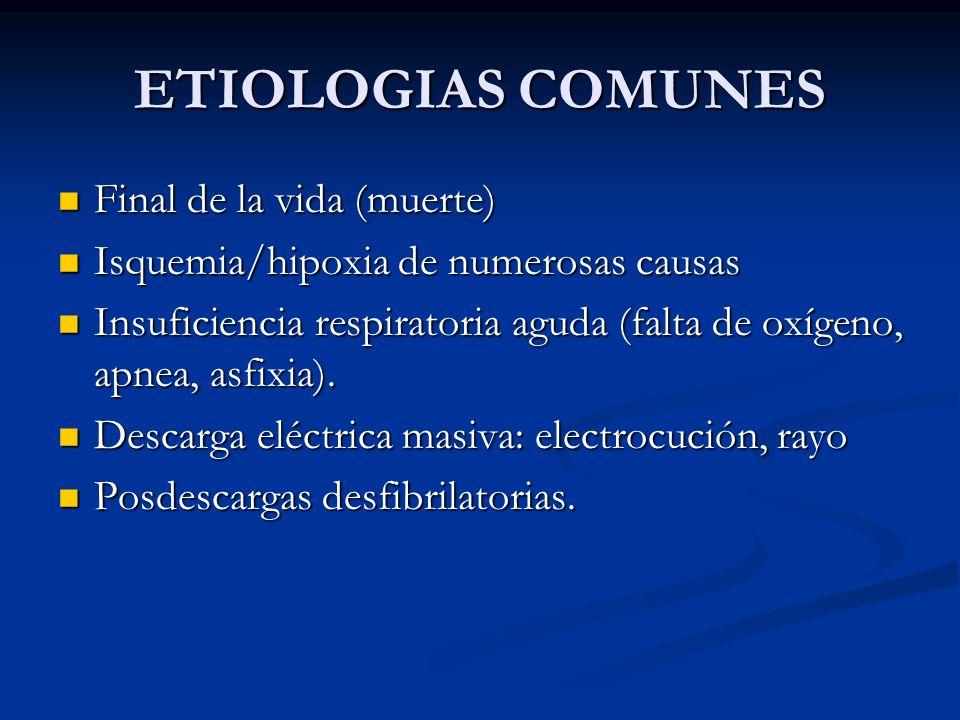 ETIOLOGIAS COMUNES Final de la vida (muerte)