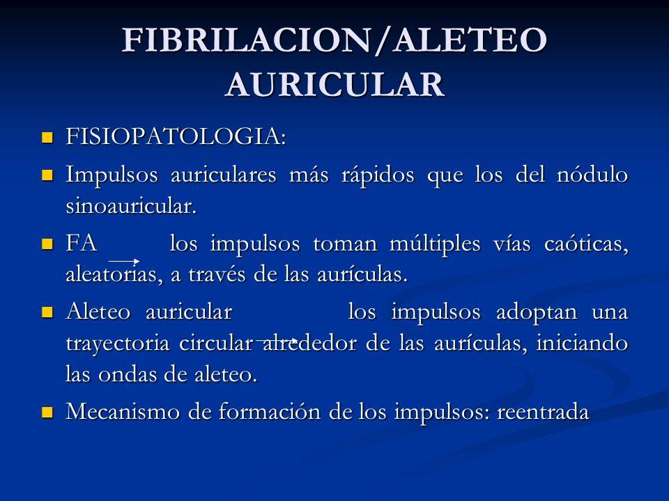 FIBRILACION/ALETEO AURICULAR
