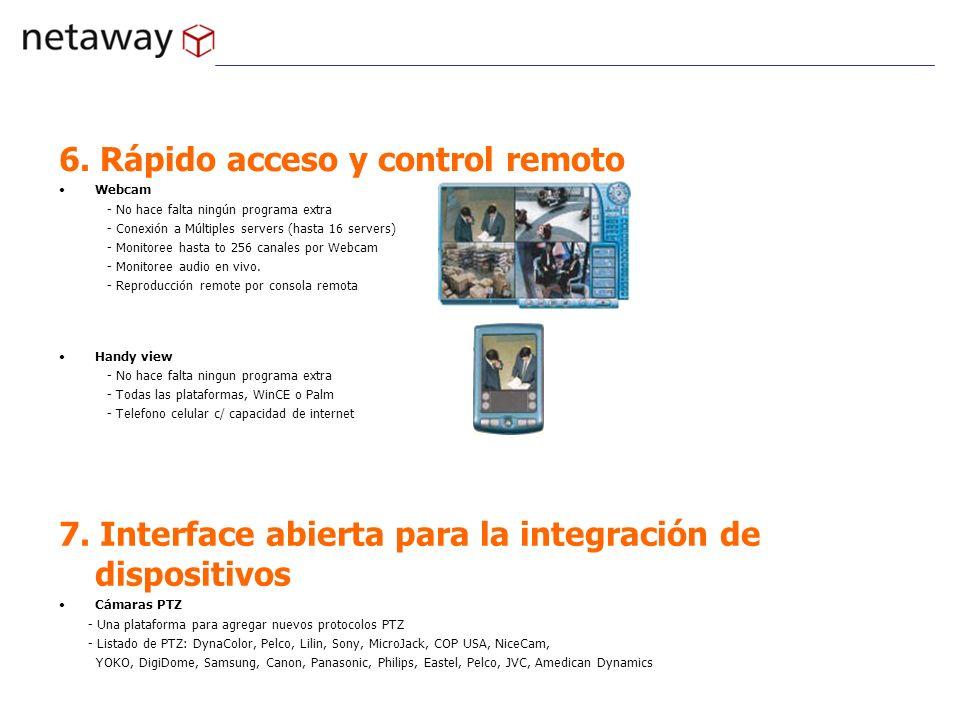6. Rápido acceso y control remoto