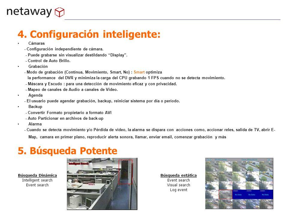 4. Configuración inteligente:
