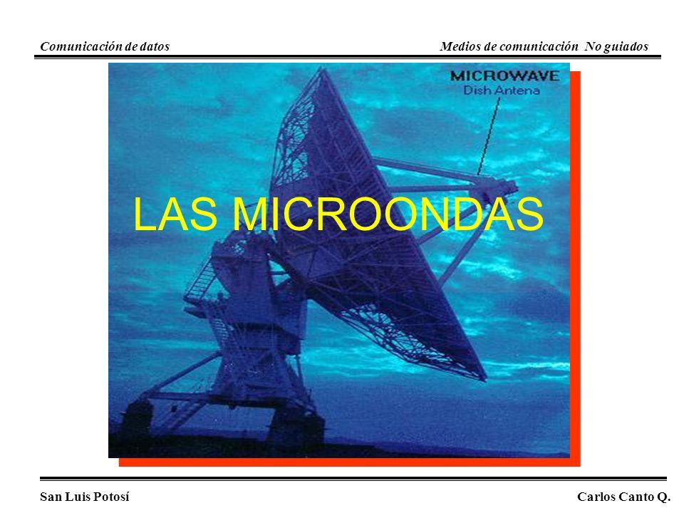 LAS MICROONDAS Comunicación de datos Medios de comunicación No guiados