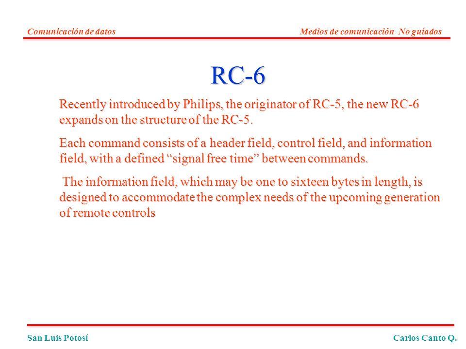 Comunicación de datos Medios de comunicación No guiados. RC-6.