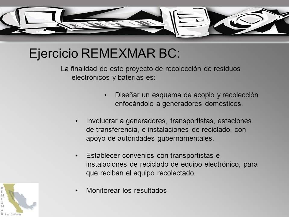 Ejercicio REMEXMAR BC: