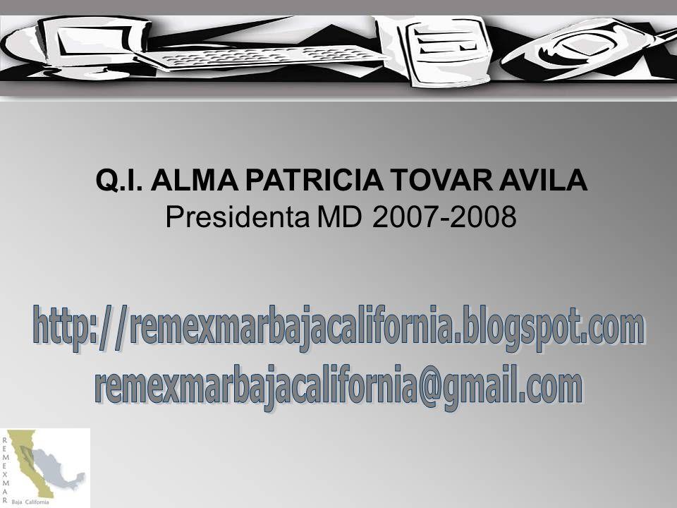 Q.I. ALMA PATRICIA TOVAR AVILA