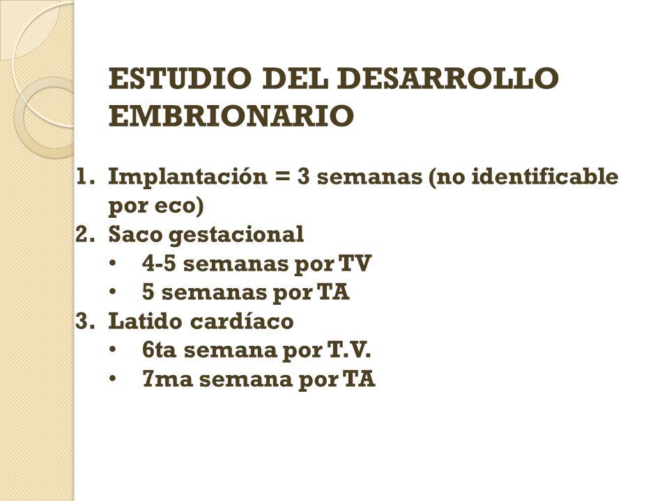 ESTUDIO DEL DESARROLLO EMBRIONARIO