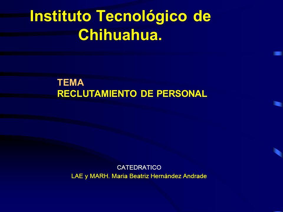 Instituto Tecnológico de Chihuahua.