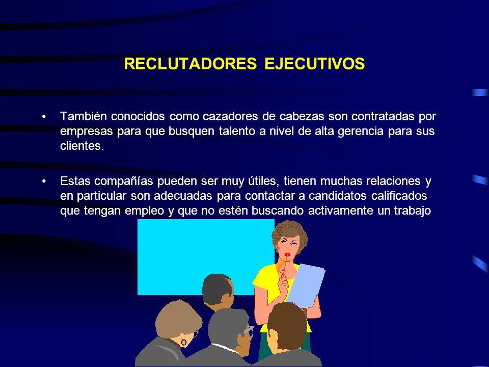 RECLUTADORES EJECUTIVOS