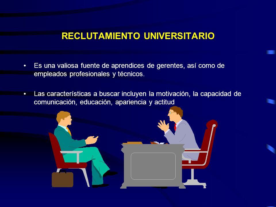 RECLUTAMIENTO UNIVERSITARIO