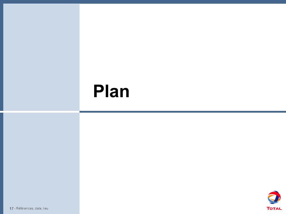 17 - Références, date, lieu Plan - Références, date, lieu