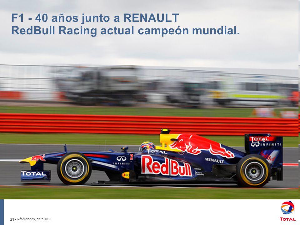 F1 - 40 años junto a RENAULT RedBull Racing actual campeón mundial.