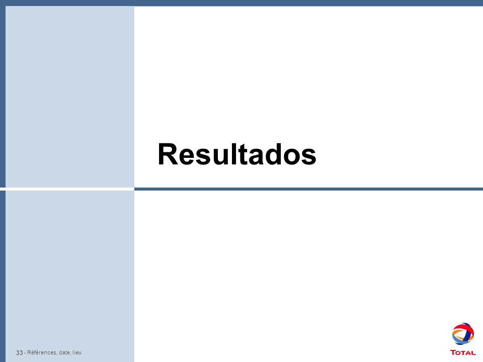 33 - Références, date, lieu Resultados - Références, date, lieu