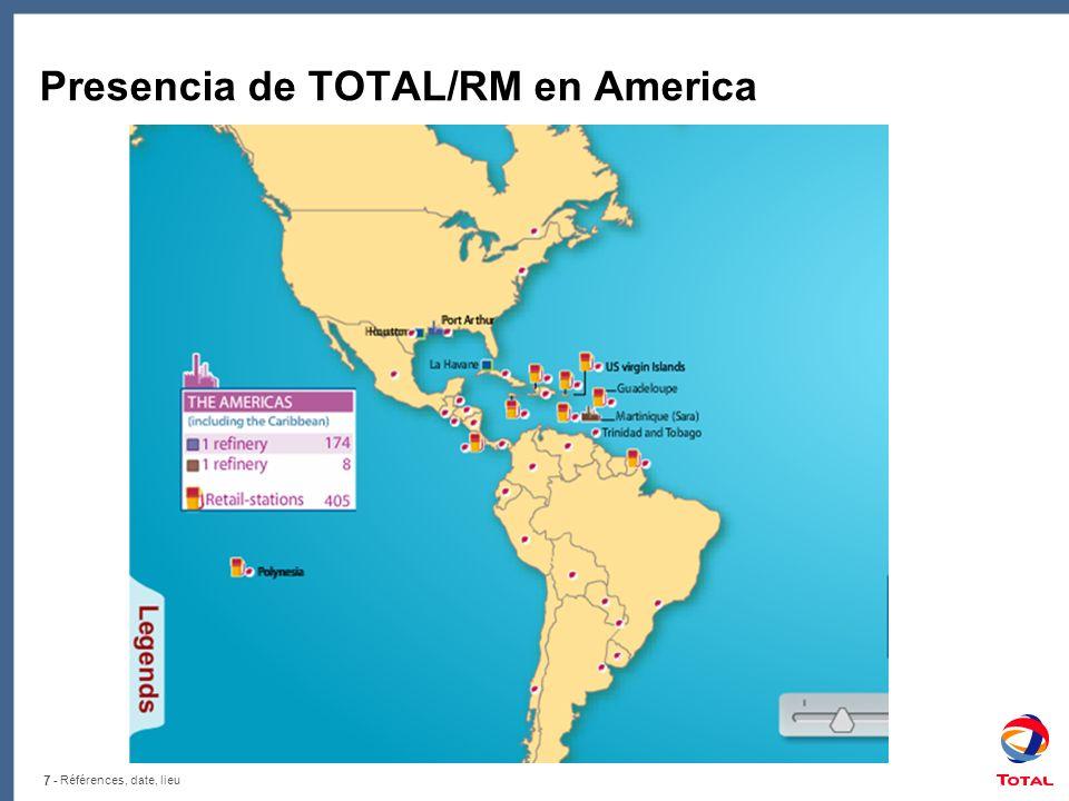 Presencia de TOTAL/RM en America
