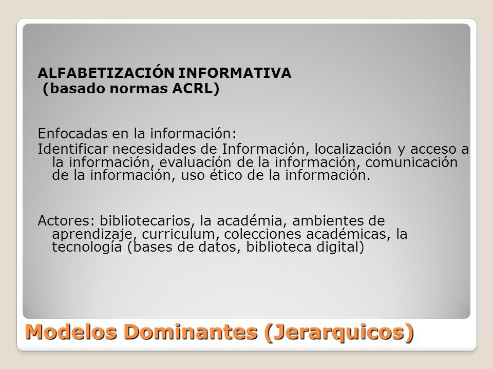 Modelos Dominantes (Jerarquicos)