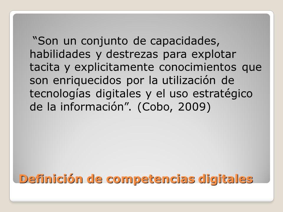 Definición de competencias digitales