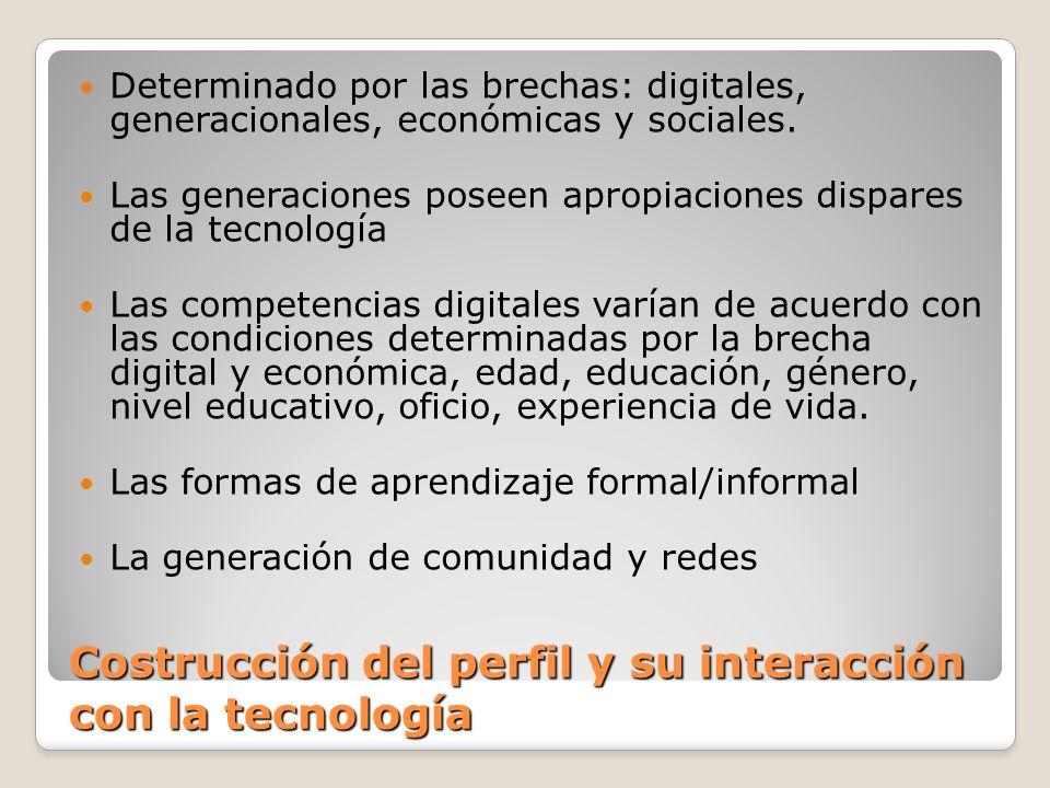 Costrucción del perfil y su interacción con la tecnología