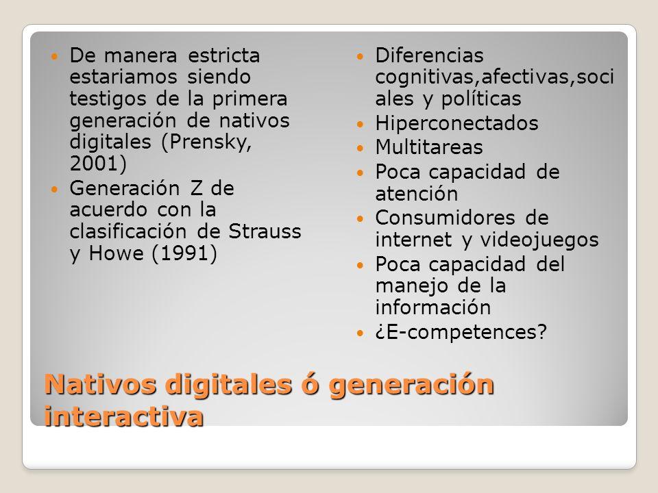 Nativos digitales ó generación interactiva