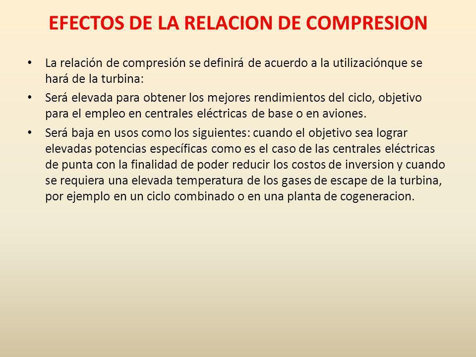 EFECTOS DE LA RELACION DE COMPRESION