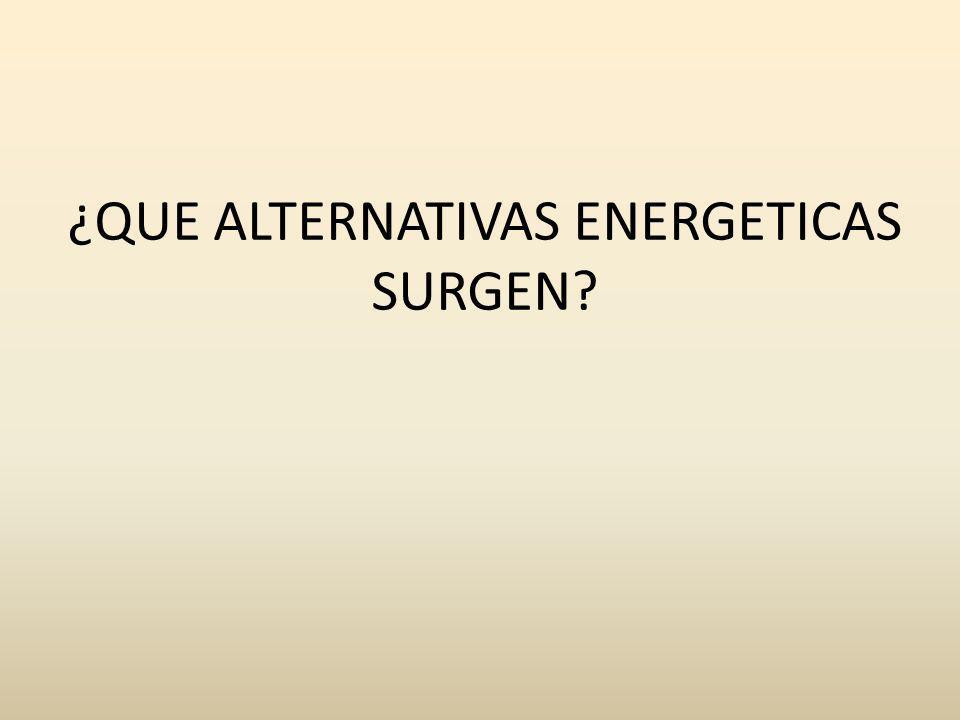 ¿QUE ALTERNATIVAS ENERGETICAS SURGEN