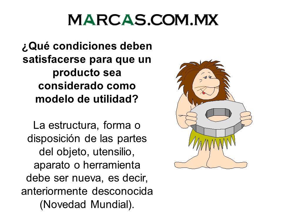 ¿Qué condiciones deben satisfacerse para que un producto sea considerado como modelo de utilidad