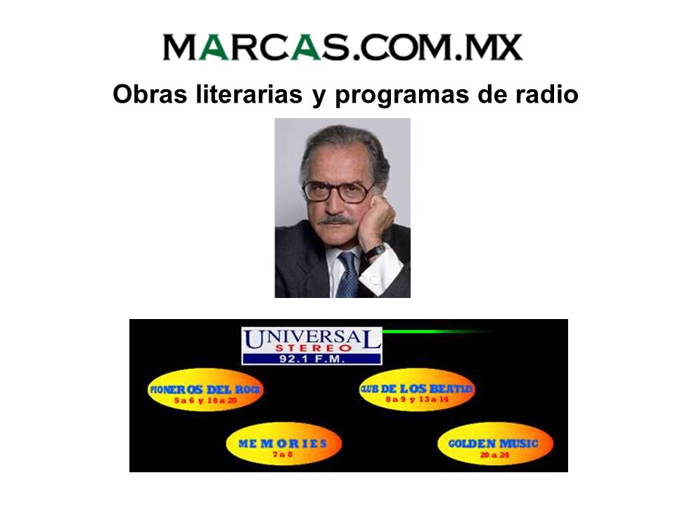 Obras literarias y programas de radio