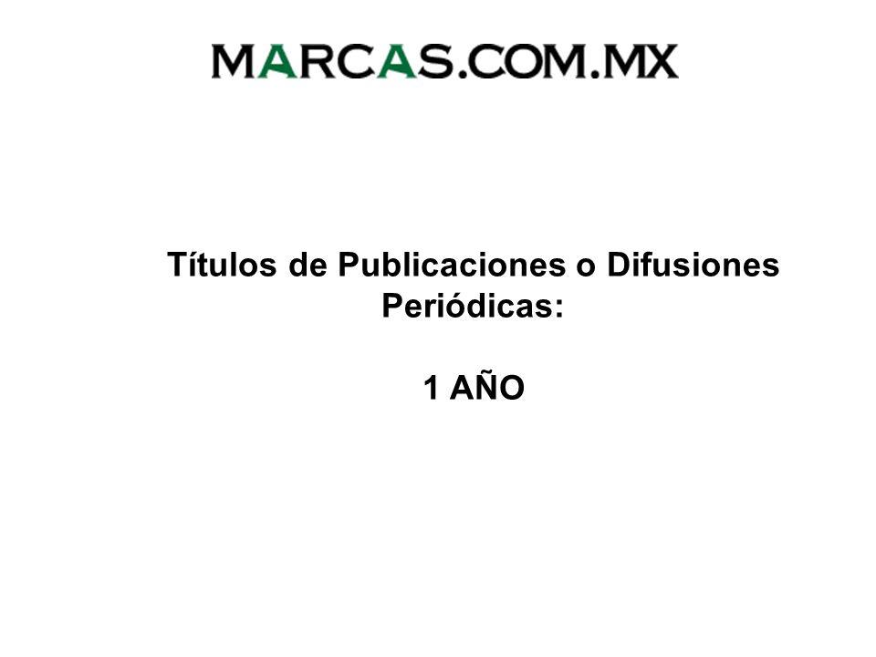 Títulos de Publicaciones o Difusiones Periódicas: