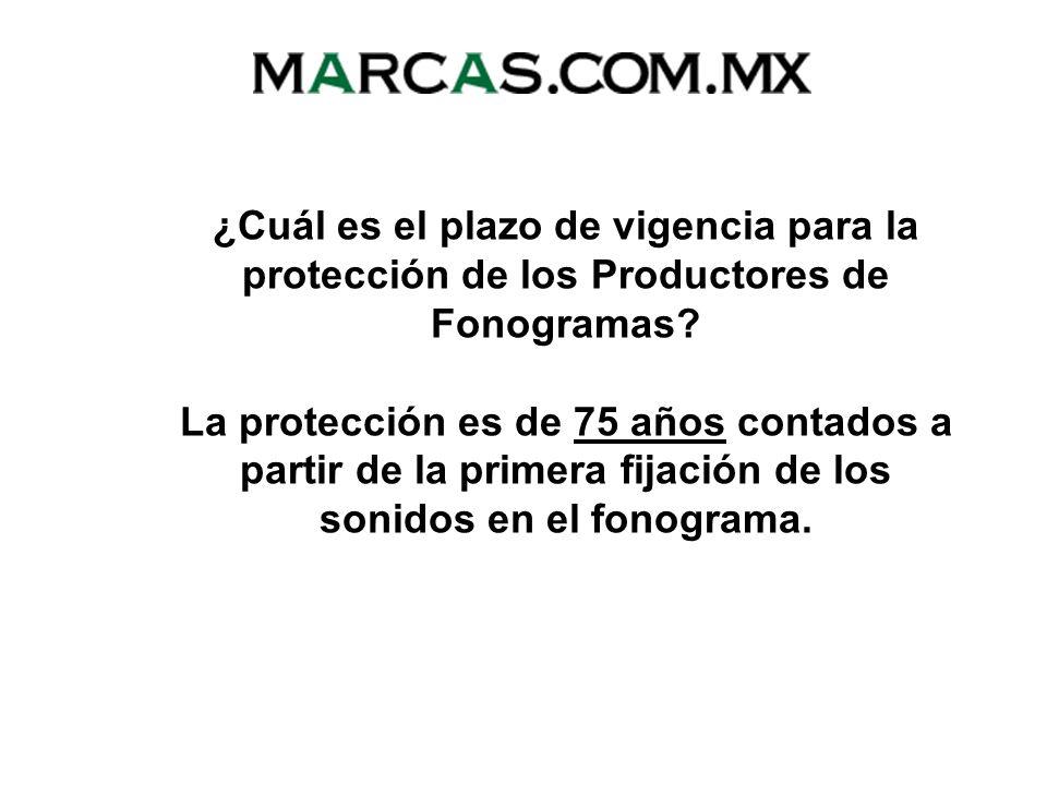 ¿Cuál es el plazo de vigencia para la protección de los Productores de Fonogramas