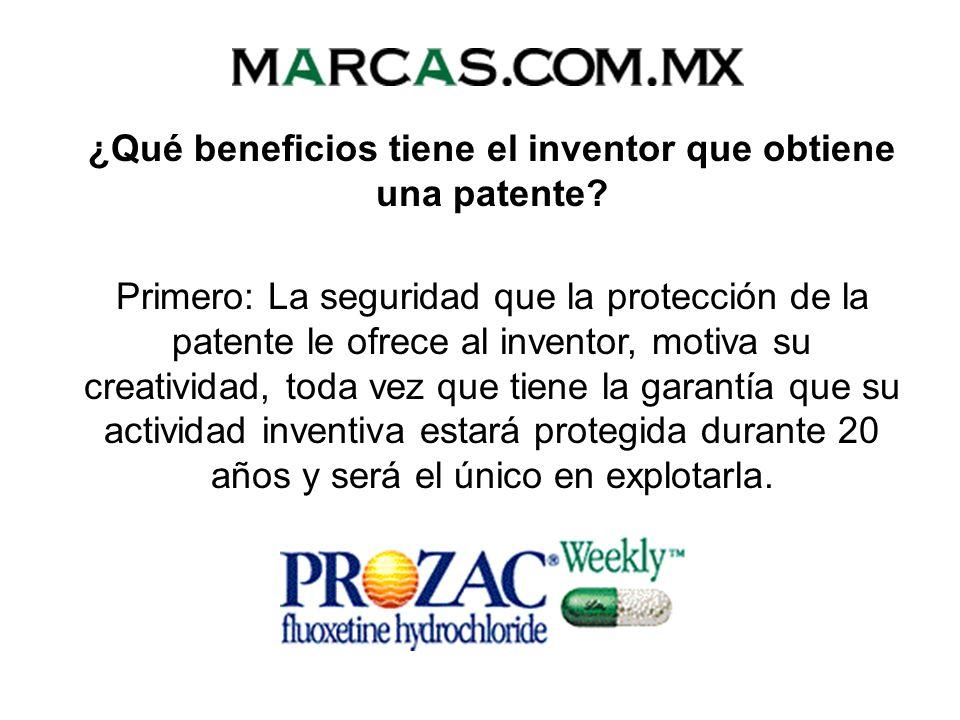¿Qué beneficios tiene el inventor que obtiene una patente
