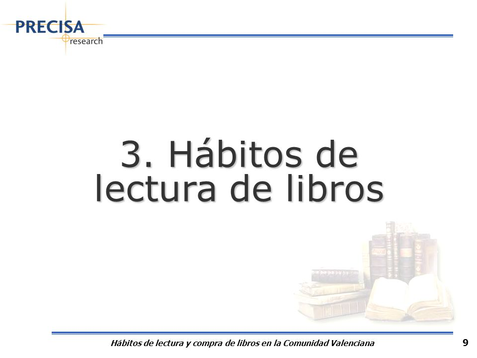 3.1 Frecuencia de lectura de libros