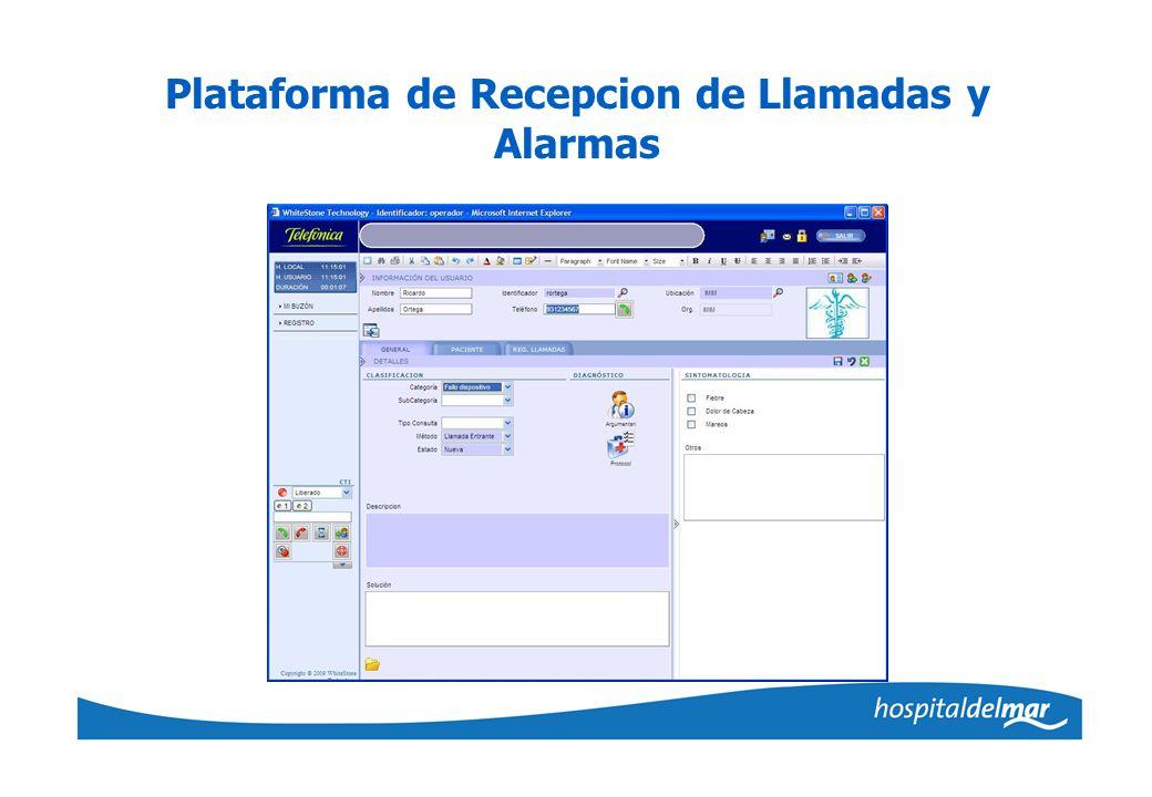 Plataforma de Recepcion de Llamadas y Alarmas