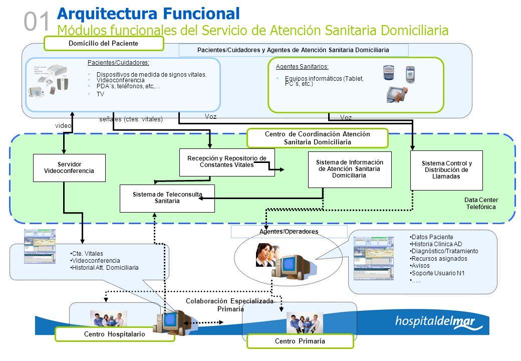 01 Arquitectura Funcional Módulos funcionales del Servicio de Atención Sanitaria Domiciliaria. Domicilio del Paciente.