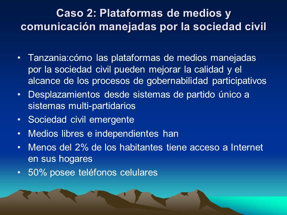 Caso 2: Plataformas de medios y comunicación manejadas por la sociedad civil