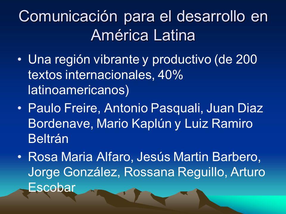 Comunicación para el desarrollo en América Latina