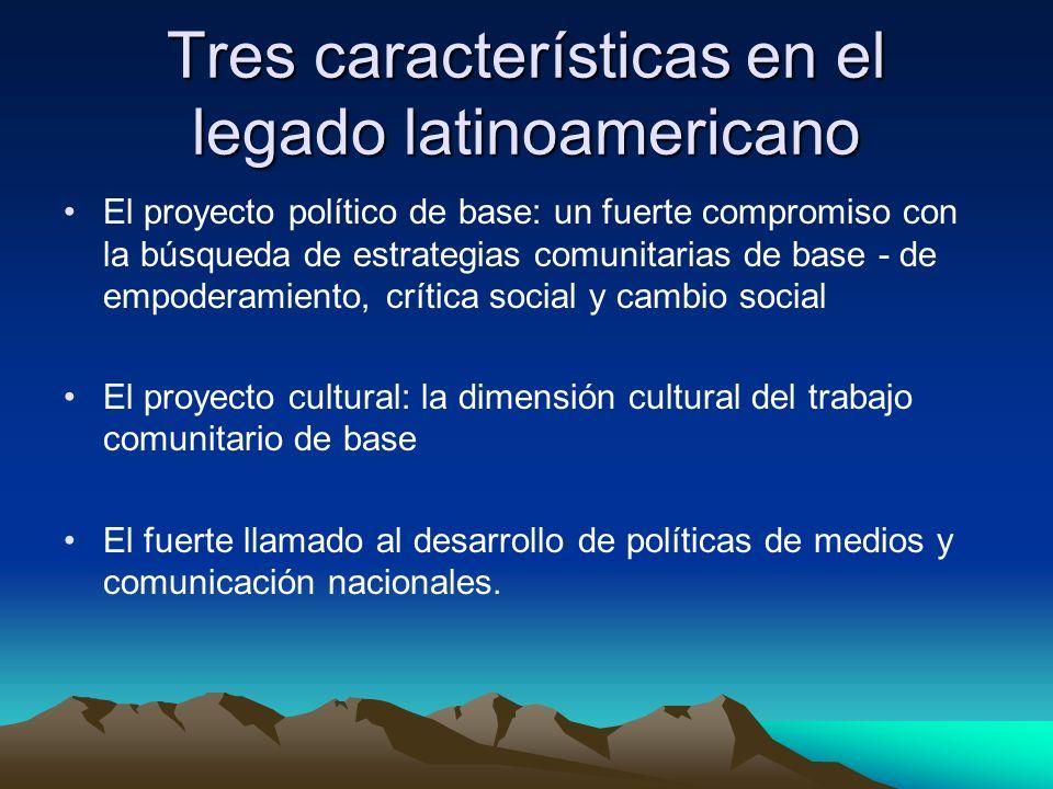 Tres características en el legado latinoamericano