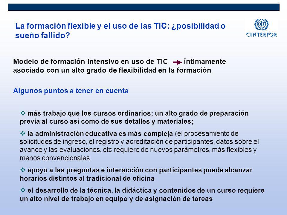 La formación flexible y el uso de las TIC: ¿posibilidad o sueño fallido