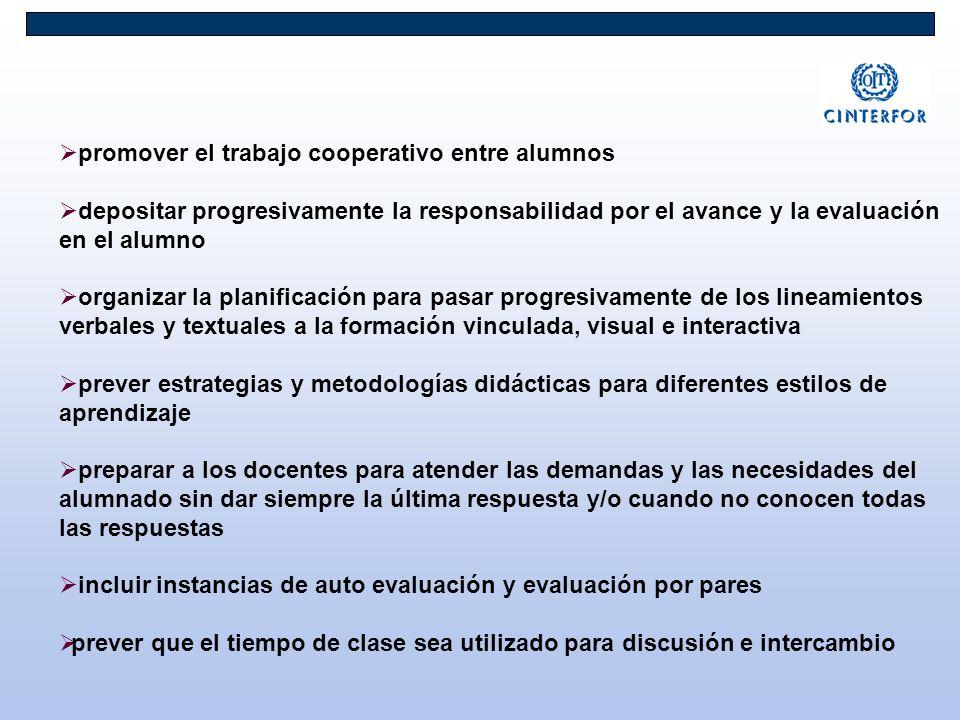 promover el trabajo cooperativo entre alumnos