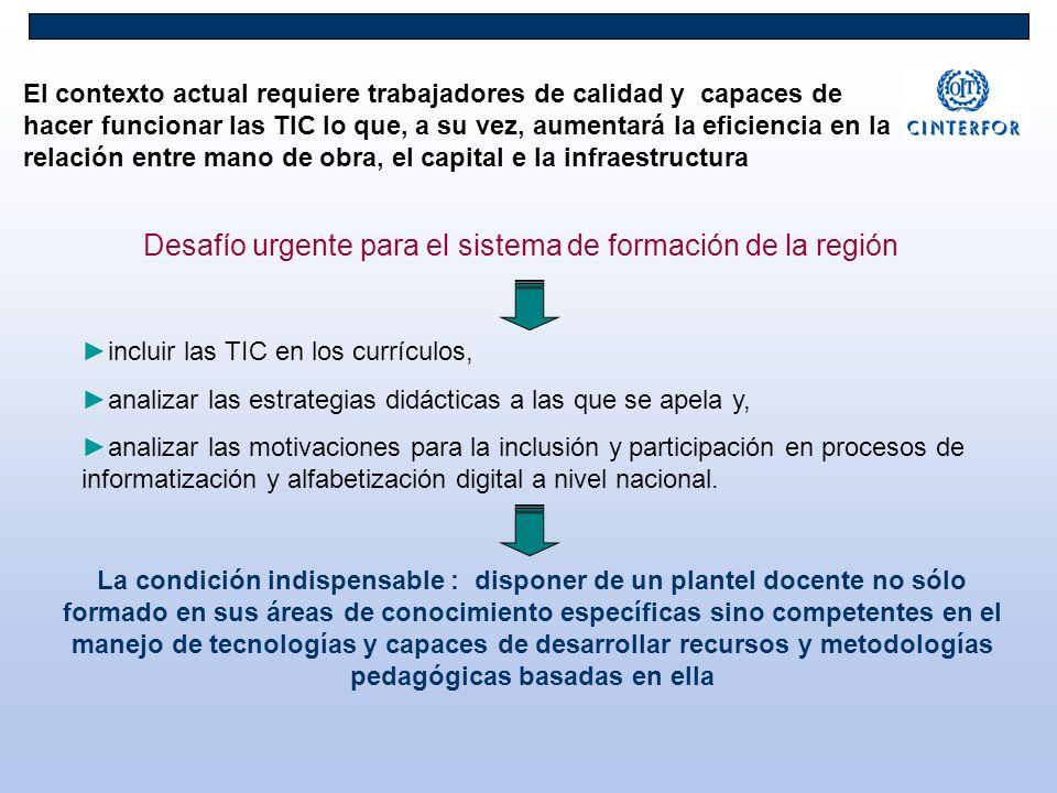 Desafío urgente para el sistema de formación de la región